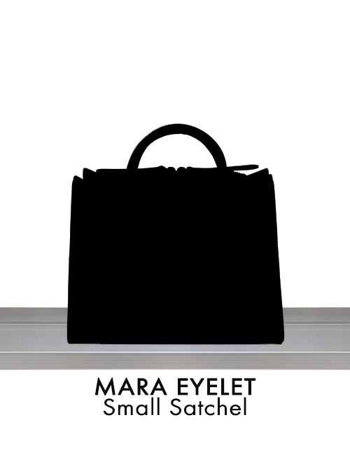 MARA EYELET Small Satchel